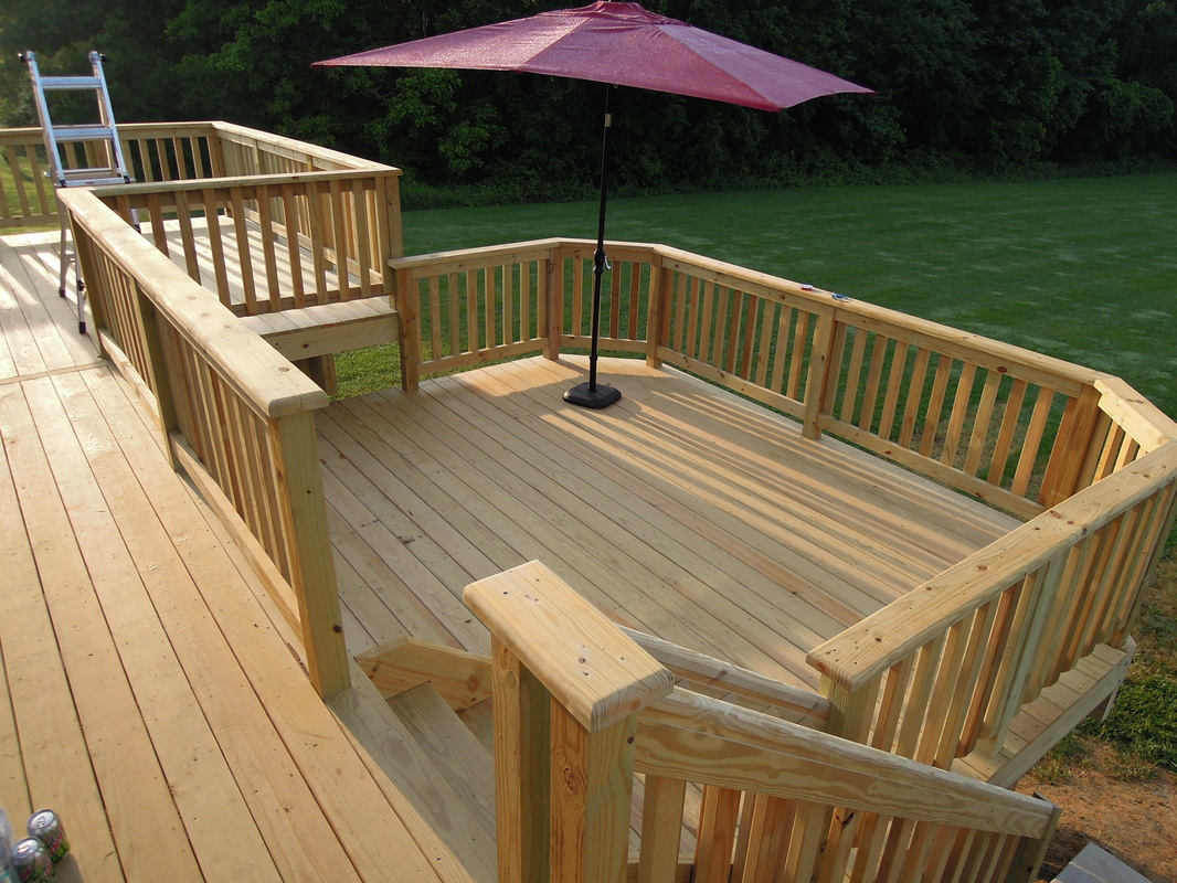 When to stain pressure treated wood - Wooden Deck