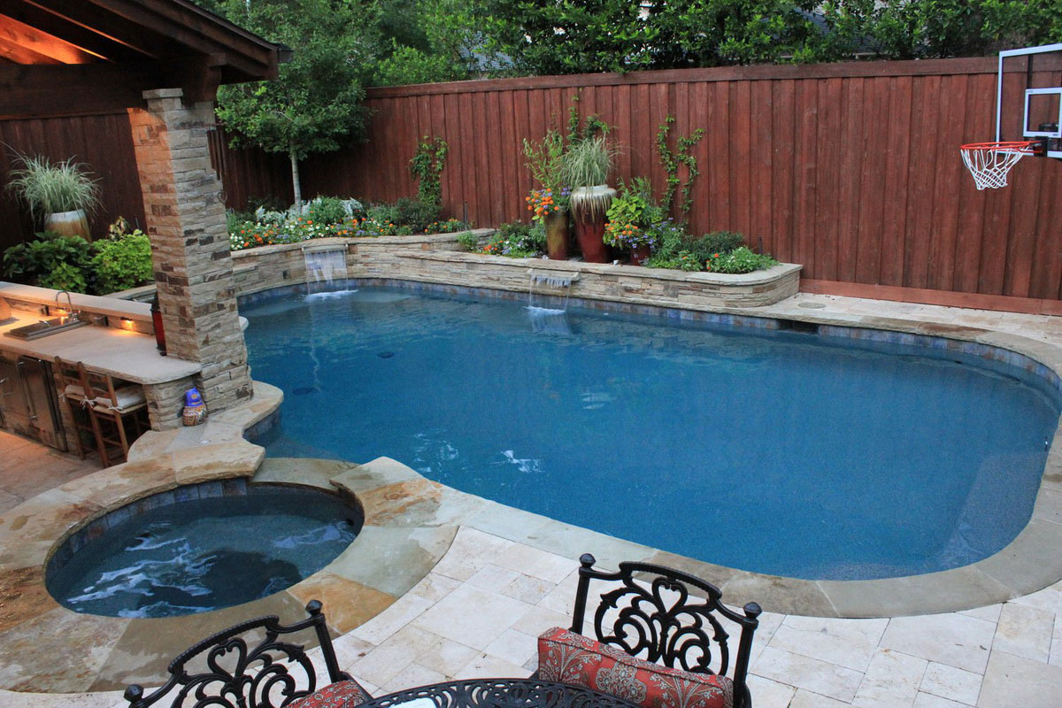 swimming pool backyard quinjucom - Backyard Swimming Pool Designs