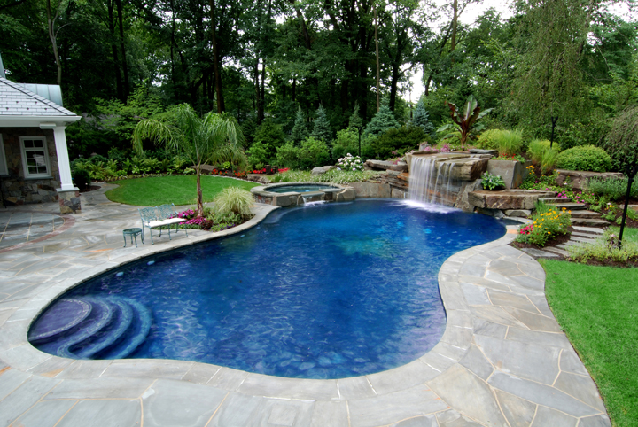 Marvelous Wonderful Outdoor Backyard Pools Gallery Of Christmas Lights For