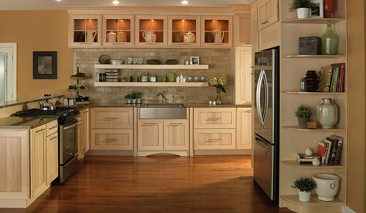 Kitchen cabinets great storage solutions for you for Birch kitchen cabinets review