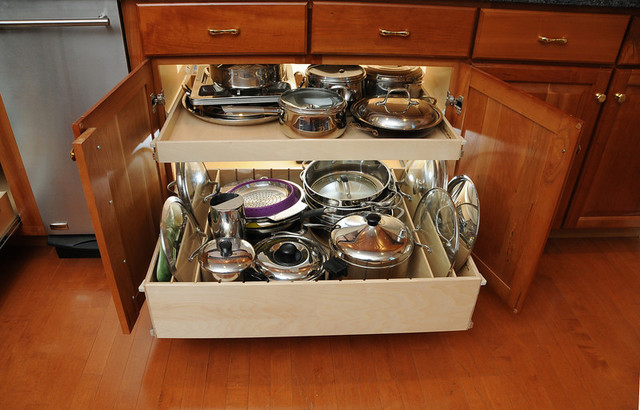 Kitchen Drawers For Pots And Pans Inspiration Kitchen Cabinets Great  Storage Solutions For You Quinju Review
