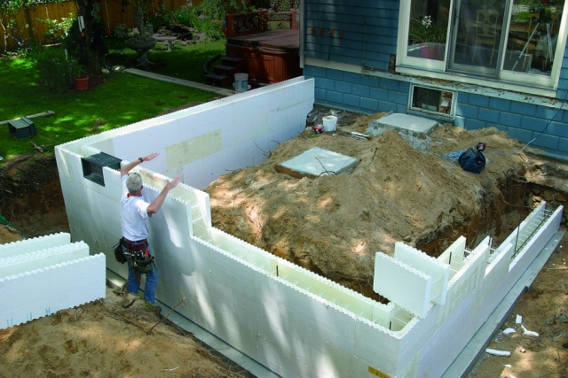 Icf construction 5 reasons to consider for Foam block foundation prices