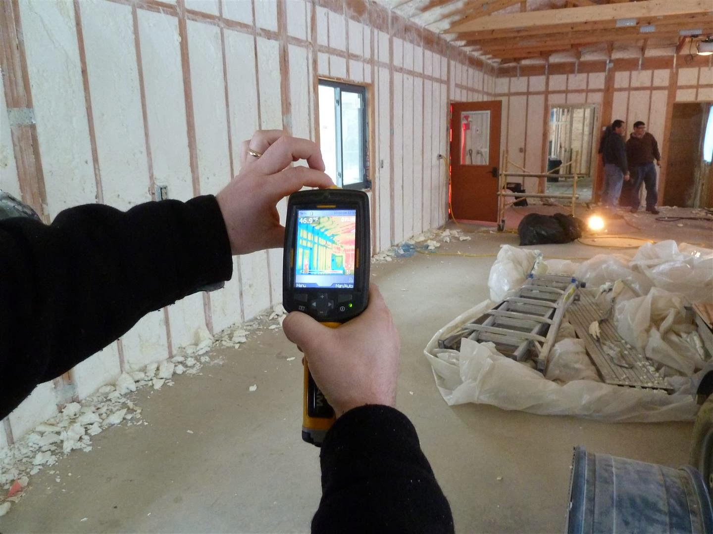 energy efficiency testing for a home