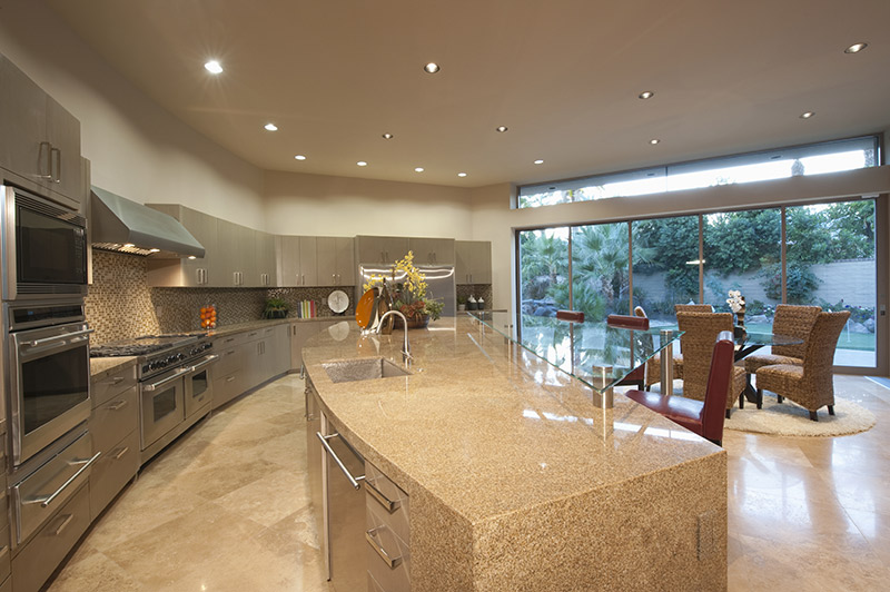 kitchen with led pot
