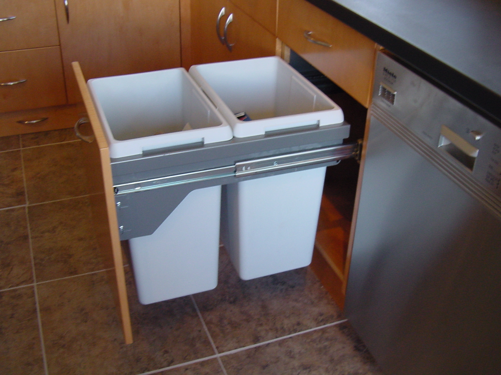 kitchen recycling bins for cabinets kitchen cabinets great storage solutions for you 8406