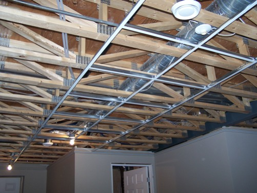 putting in a drop ceiling